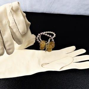 Vintage Beige Formal Gloves